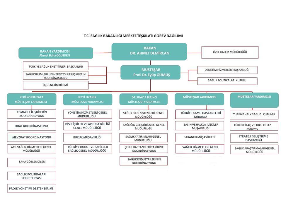 Sağlık Bakanlığı Teşkilat Şeması Güncelledi