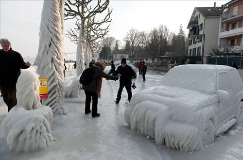 İşte tepeden tırnağa buz tutan şehir
