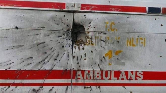 Teröristler, Sahte İhbarla Kaçırdıkları Ambulansı Delik Deşik Etmiş