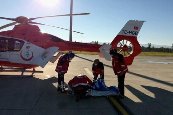 12 yaşındaki çocuk için ambulans helikopterler seferler oldu
