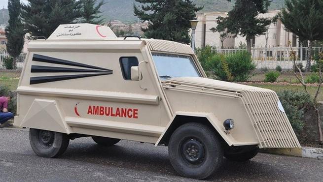 Hurdayken aldı, zırhlı ambulans yaptı