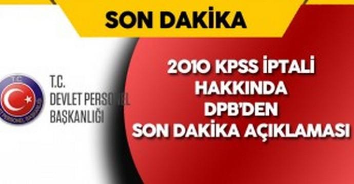 2010 KPSS İptali Hakkında DPB'den Açıklama