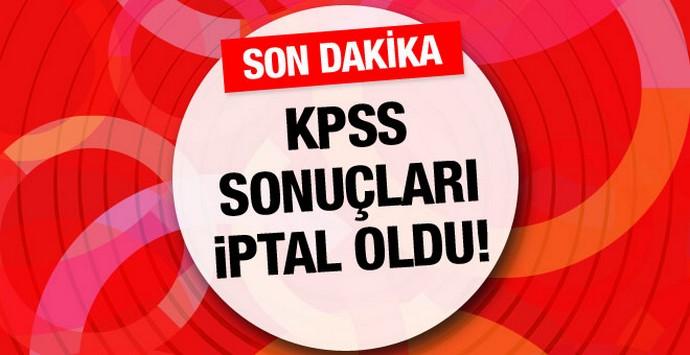 2010 KPSS sınavı iptal edildi