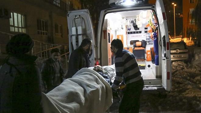 Felç geçiren hastaya paletli ambulans yetişti