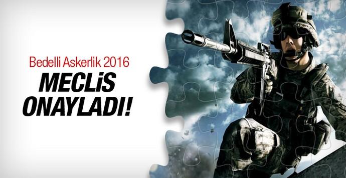 Bedelli askerlik 2016 müjdesi Meclis'ten geldi!
