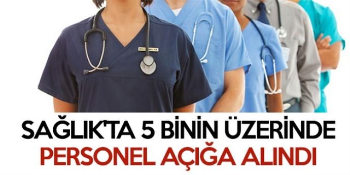 Sağlık'ta 5 binin üzerinde personel açığa alındı