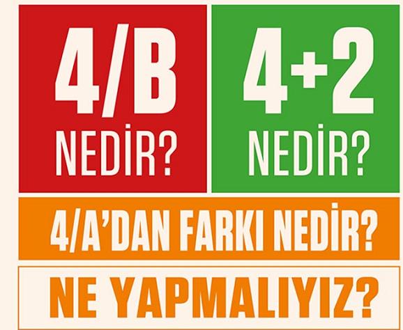 4/B Nedir ?,4+2 Nedir ? , 4/A'dan Farkları Nelerdir?