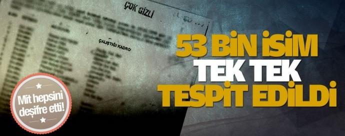 53 bin kişi tek tek tespit edildi