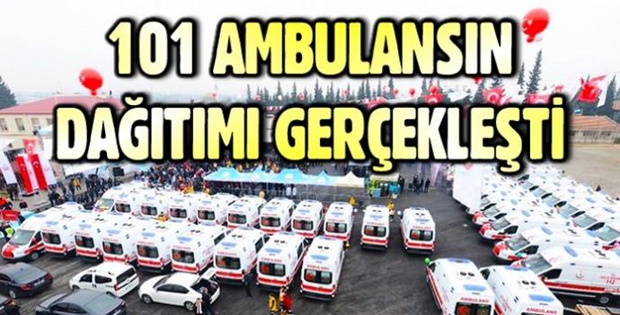 101 Ambulansın Dağıtımı Gerçekleşti