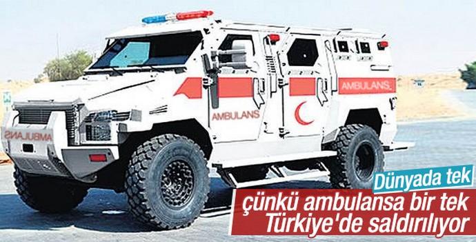 Terör saldırılarının sürdüğü şehirlere zırhlı ambulans