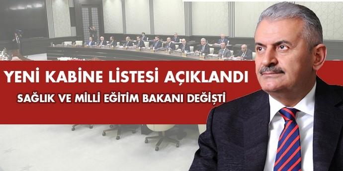 Yeni Kabine listesi açıklandı