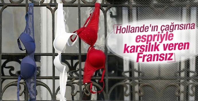Hollade'nin bayrak asın çağrısını yanlış anlayan Fransız