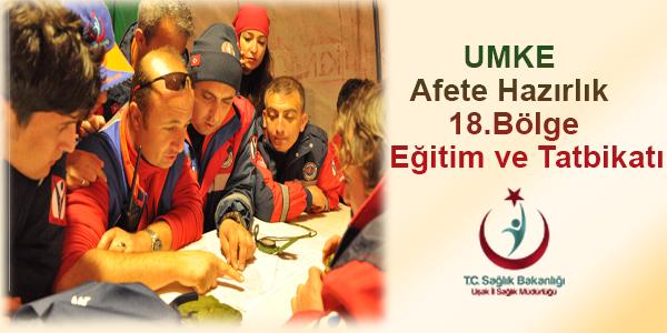 İzmir'de UMKE Tatbikatı