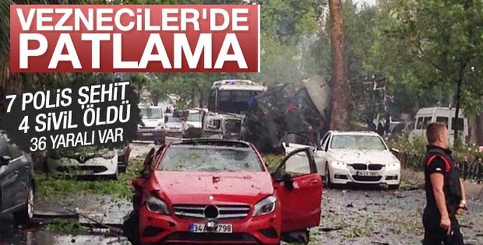 İstanbul Vezneciler'de çevik kuvvet aracına saldırı