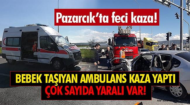 Ambulans ile Otomobil çarpıştı: Biri ağır 9 yaralı