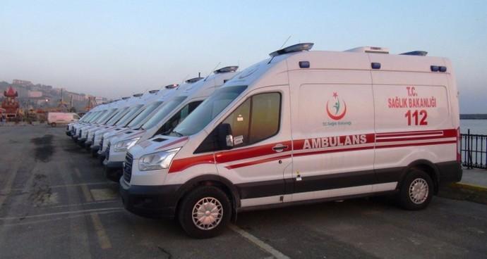 Ambulansa 4 yılda 205 milyon lira