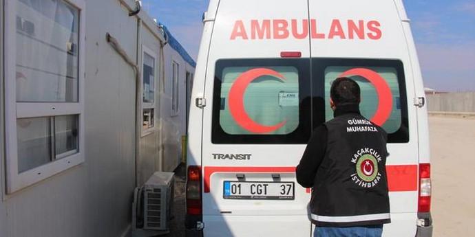 Ambulansta ele geçirilenler şoke etti! 3 kişi gözaltına alındı