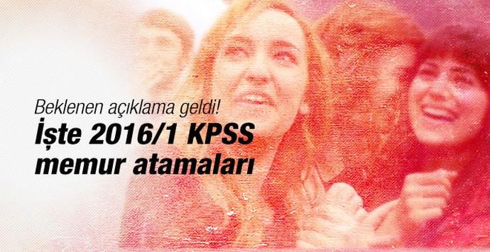 Müjde 2016 1 KPSS memur atamaları geliyor!