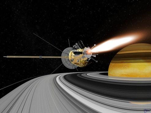 Cassini, Satürn'e saatte 110 bin kilometre hızla daldı!