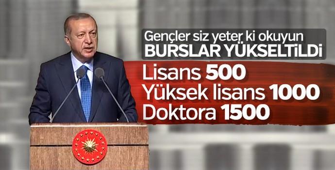 Cumhurbaşkanı Erdoğan'dan öğrencilere kredi ve burs müjdesi!