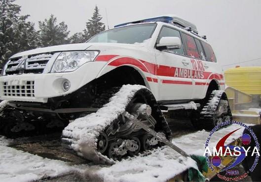 Sağlık Bakanlığından Amasya'ya Paletli Ambulans