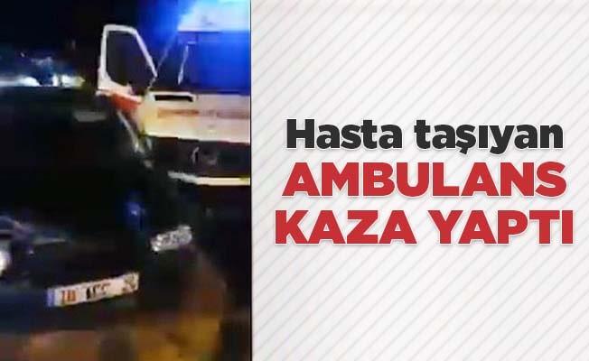 Denizli'de hasta taşıyan ambulans kaza yaptı