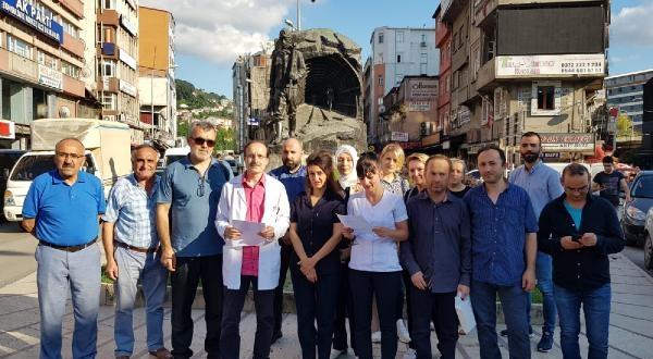 Diyaliz Merkezinde Çalışan Acil Tıp Teknisyenlerinden Eylem