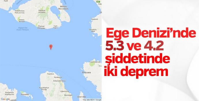 Ege Denizi'nde art arda 2 deprem