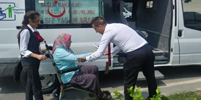 Engelliler için özel ambulans