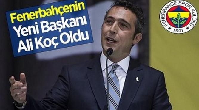 Fenerbahçenin Yeni Başkanı Ali Koç Oldu