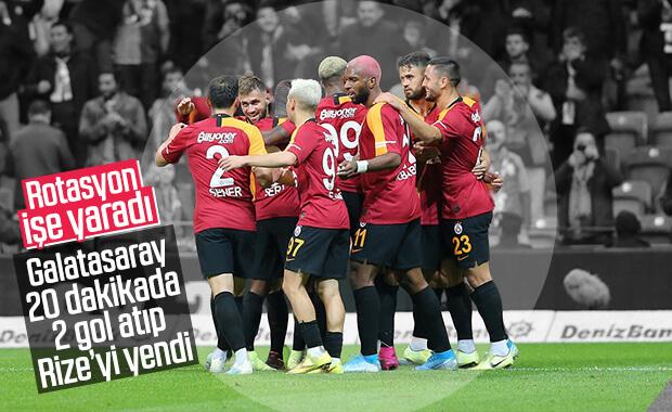Galatasaray, Ç.Rize'yi zorlanmadan yendi
