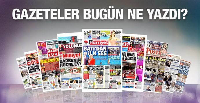 02 Ağustos 2016 Gazete Manşetleri