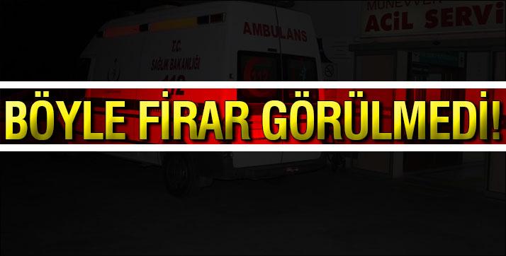 Genç Kadın Ambulanstan Atlayıp Firar Etti