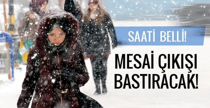İstanbul hava durumu kar geliyor saati belli!