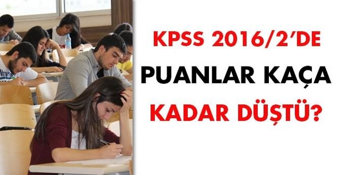 KPSS 2016/2'de puanlar kaça kadar düştü?
