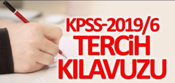 KPSS-2019/6 Tercih Kılavuzu Yayımlandı