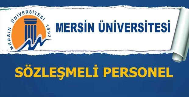 Mersin Üniversitesi 4/B Sözleşmeli Personel Alımı Yapacak