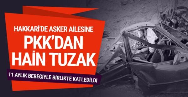 PKK'lı teröristlerden asker ailesine bombalı saldırı!