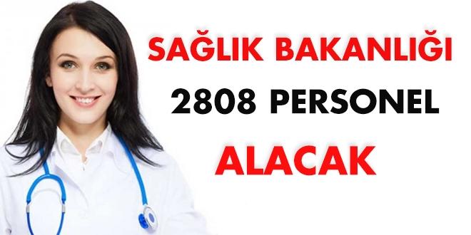 Sağlık Bakanlığı 2808 personel alacak