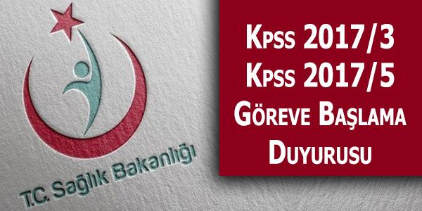 Sağlık Bakanlığı KPSS 2017/3 ve KPSS 2017/5 Memur Atama Duyurusu