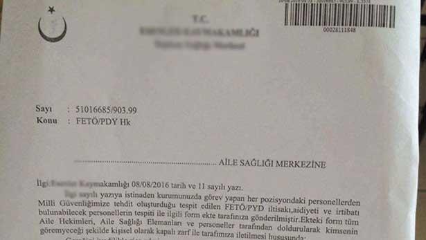 Sağlık Bakanlığından aile hekimlerine FETÖ anket formu açıklaması
