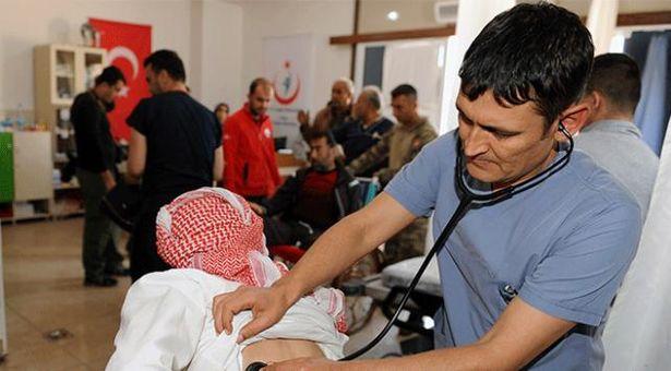 Sağlık Personeli Afrin'de 7/24 Görevde