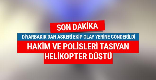 Tunceli'de son dakika helikopter düştü