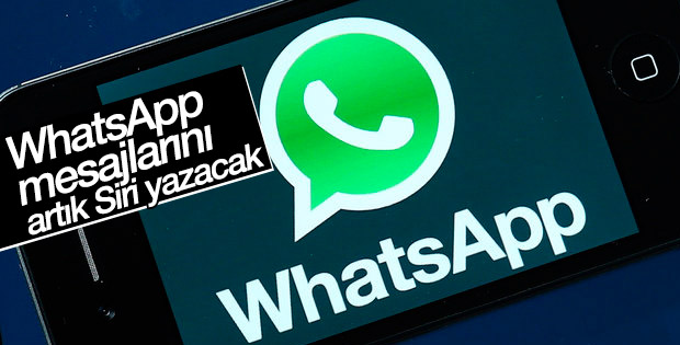WhatsApp mesajları Siri tarafından yazılacak