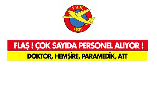 Türk Hava Kurumu Doktor, Hemşire, Paramedik ve Acil Tıp Teknisyeni Alıyor!