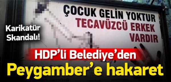 HDP'den 'Peygambere hakaret içeren' bilboard