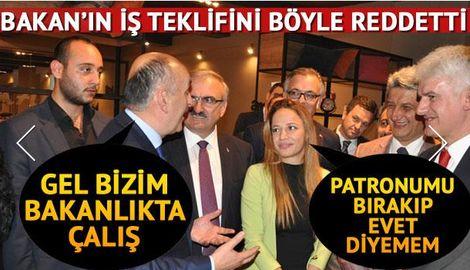 Bakan Müezzinoğlu'nun iş teklifini reddetti / VİDEO