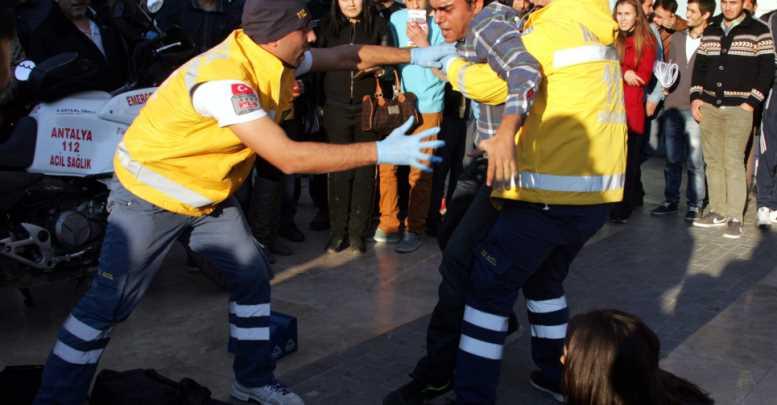 Antalya'da Sağlık Personeline Şiddet Tatbikatı