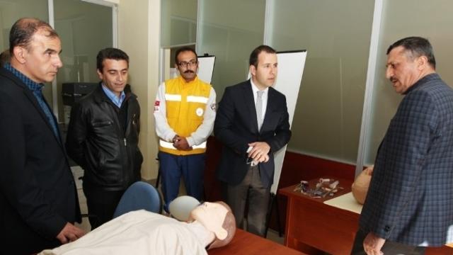 Erzurum'da 112 Acil Komuta Merkezine Ziyaret
