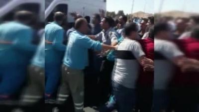 112 Acil Servis Çalışanlarına Saldırı Kamerada